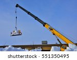 Crane And Container Being Used...