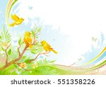 spring background. tree branch... | Shutterstock .eps vector #551358226