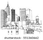scene street illustration. hand ... | Shutterstock .eps vector #551360662