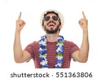 he is in a state of euphoria....   Shutterstock . vector #551363806