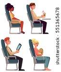 various passengers  man and... | Shutterstock .eps vector #551365678