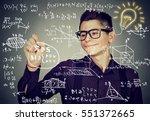 smart guy writing high school... | Shutterstock . vector #551372665