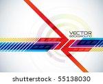 abstract vector digital... | Shutterstock .eps vector #55138030