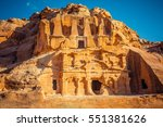 ancient tombs in petra  wadi... | Shutterstock . vector #551381626