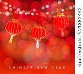 chinese new year card with... | Shutterstock .eps vector #551382442