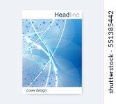 scientific brochure design... | Shutterstock .eps vector #551385442