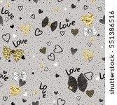 seamless pattern of randomly... | Shutterstock .eps vector #551386516