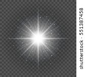 sun with lens flare lights...   Shutterstock .eps vector #551387458