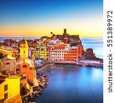 vernazza village  panoramic... | Shutterstock . vector #551389972