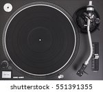 professional dj turntable... | Shutterstock . vector #551391355