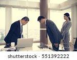 business partners... | Shutterstock . vector #551392222