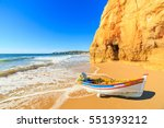 Fishing Boat On A Praia Da...