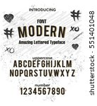 modern style typeface  labels... | Shutterstock .eps vector #551401048