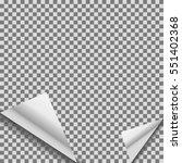 folded transparent blank vector ... | Shutterstock .eps vector #551402368