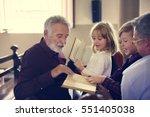 church people believe faith... | Shutterstock . vector #551405038