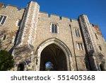 the beautiful abbey gateway in... | Shutterstock . vector #551405368