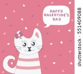 greeting card happy valentines... | Shutterstock .eps vector #551409088