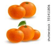 fresh ripe mandarins or... | Shutterstock .eps vector #551411806