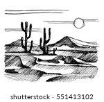 Sketch America. Landscape Wit...