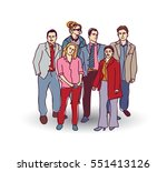 business team group people... | Shutterstock .eps vector #551413126