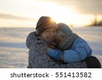 daughter with mother | Shutterstock . vector #551413582