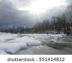 Winter Landscape Frozen River