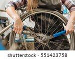 hardworking craftswoman fixing... | Shutterstock . vector #551423758
