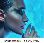 fashion art woman portrait  | Shutterstock . vector #551424982