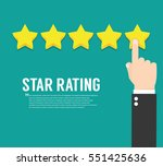 rating stars. flat design | Shutterstock .eps vector #551425636