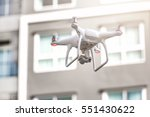 modern rc drone   quadcopter... | Shutterstock . vector #551430622