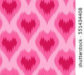 ethnic pink seamless pattern...   Shutterstock .eps vector #551434408
