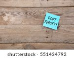 don't forget inscription on... | Shutterstock . vector #551434792