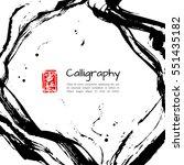 ink background in modern asian... | Shutterstock .eps vector #551435182