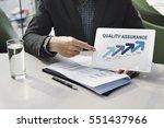 assurance quality standard... | Shutterstock . vector #551437966