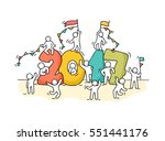 2017 happy new year background. ... | Shutterstock .eps vector #551441176