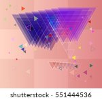arrangement around smart mark ... | Shutterstock .eps vector #551444536