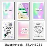 artistic creative st valentines ...   Shutterstock .eps vector #551448256