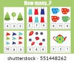 counting educational children... | Shutterstock .eps vector #551448262