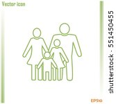 line icon  a family | Shutterstock .eps vector #551450455
