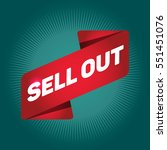 sellout arrow tag sign. | Shutterstock .eps vector #551451076