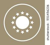 stars icon. flat design. | Shutterstock .eps vector #551456236