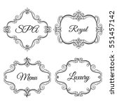 set collection of ornamental... | Shutterstock .eps vector #551457142