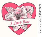 i love you. happy valentine... | Shutterstock .eps vector #551459722