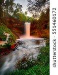 minnehaha falls at dusk  glows... | Shutterstock . vector #551460172