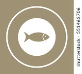 fish  icon   isolated. flat ... | Shutterstock .eps vector #551463706