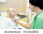 little patient. pretty blond... | Shutterstock . vector #551463802