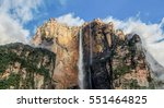 view of the angel falls  salto... | Shutterstock . vector #551464825
