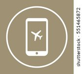 aircraft  icon   isolated. flat ... | Shutterstock .eps vector #551465872