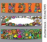 vector banners set. hand drawn...   Shutterstock .eps vector #551467495