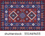 colorful oriental mosaic rug... | Shutterstock .eps vector #551469655